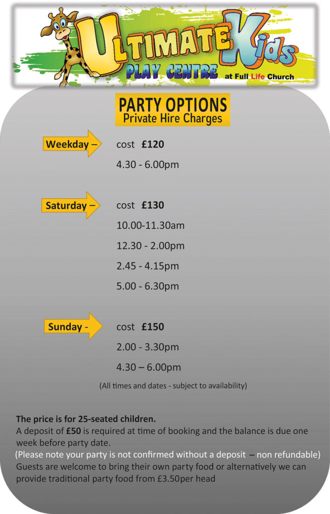 Party Hire Prices